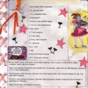 Embellished Latin Recipe Page