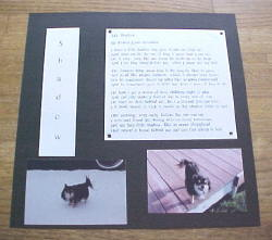 """""""My Shadow"""" Pet Tribute Scrapbooking Layout"""