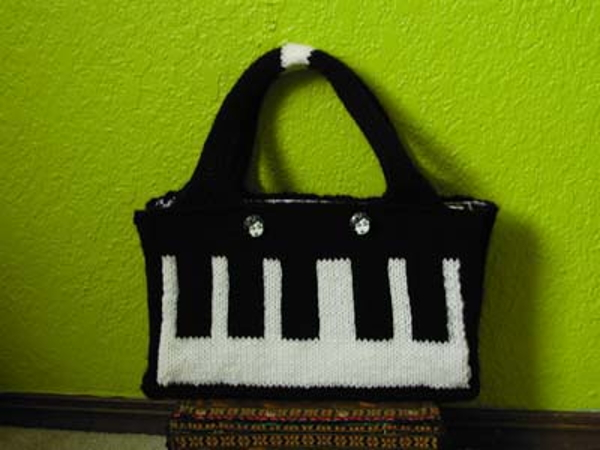 Knitted Keyboard Purse