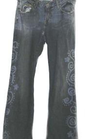 Mehndi Henna Design Jeans