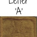 Knitted Letter Cloth - A