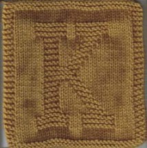 Knitted Letter Cloth – K