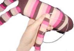 Sock Monkey Arms Sewing