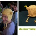 Chicken Viking Hat Knitting Pattern