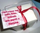 Fortune Cookie box with saying