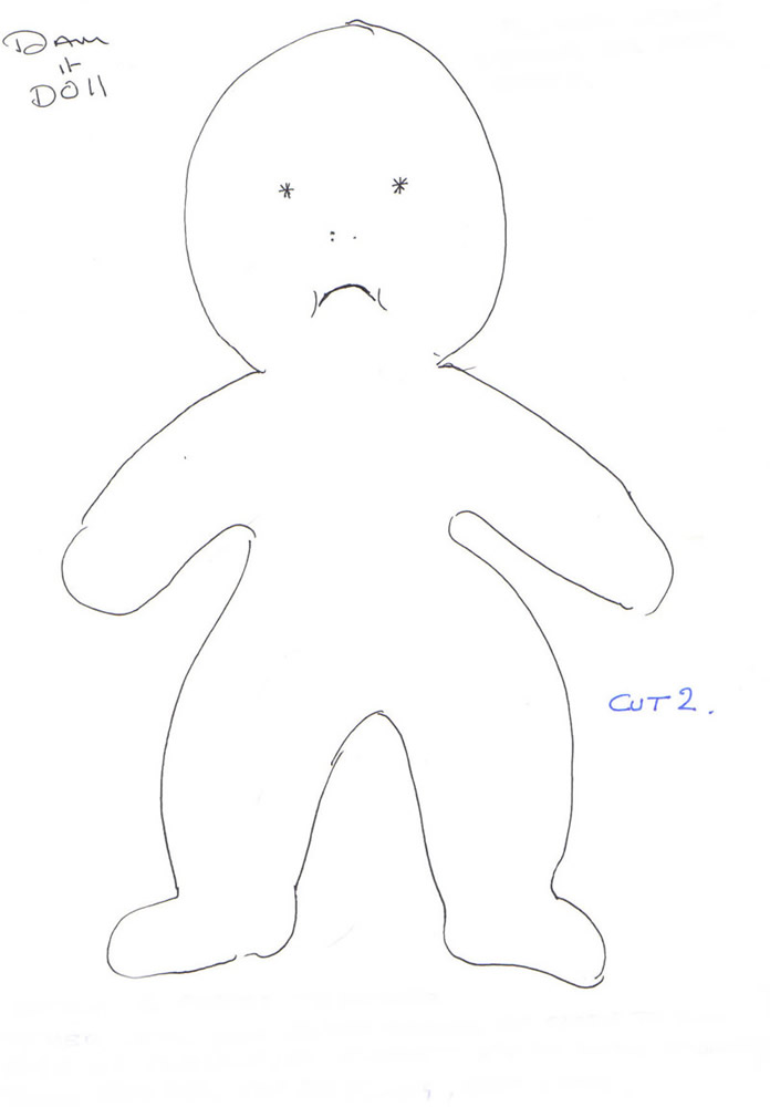 photo about Dammit Doll Printable Pattern known as Dammit Doll