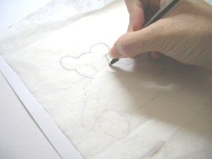drawing teddy bear pattern