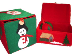 Christmas Felt Box Open