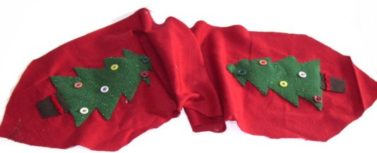 Felt Table Runners Christmas Tree
