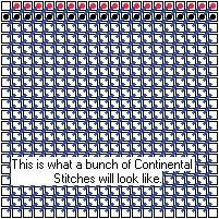 Continental Stitch