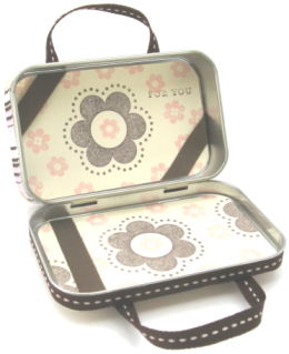 Altered Tin Mini Purse Open