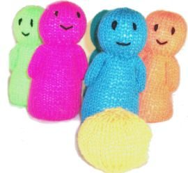 Charity Pattern: Dr Who Jelly Baby - Knitting Patterns - craftbits.com