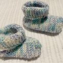 Quick And Easy Knitted Baby Slippers