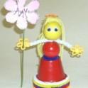 Clay Pot - Flower Girl