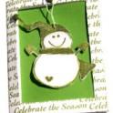 Christmas Card - Snowman Ornament