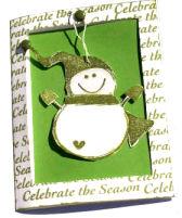 Christmas Card – Snowman Ornament