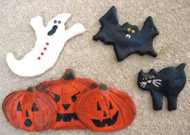 salt dough halloween creatures