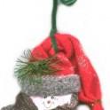 Tin Can Lid Snowman