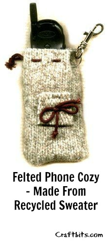 Felted Sweater – Mobile Phone Cozy
