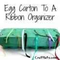 Egg Carton Ribbon Organizer