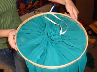No Sew Bed Canopy Step 3