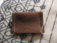 cut brown felt and sew