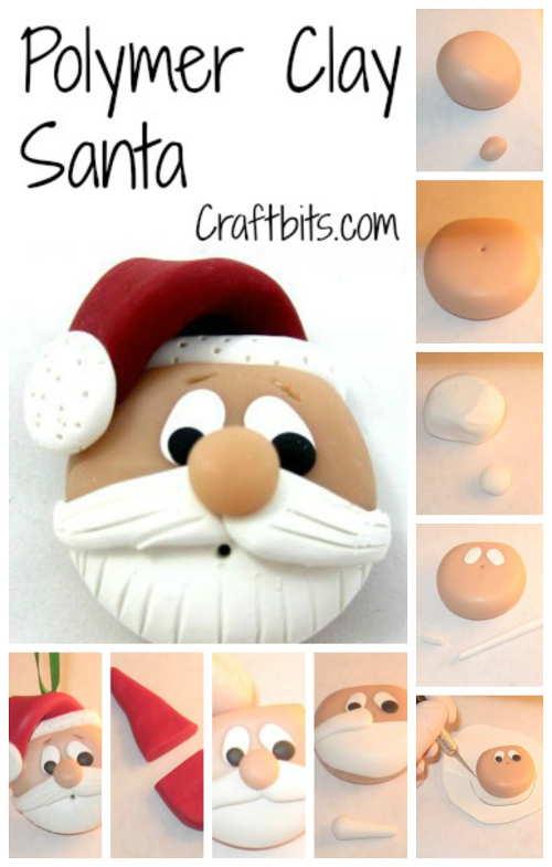 DIY Polymer Clay Santa