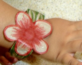 Cardboard Flower Bracelet