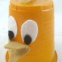 Plastic Cup Easter Chicken
