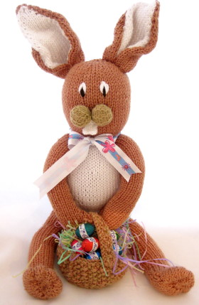 Easter Bunny Knitting Pattern : Knitted Easter Basket - Knitting Patterns - craftbits.com