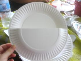 Paper Plates Letter Holder