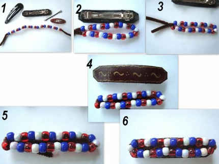 Patriotic Barrette Steps
