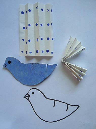 How To Make A Paper Bird Group Crafts