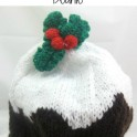 Adult Beanie - Christmas Plum Pudding