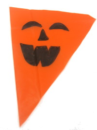 pumpkin design on bunting