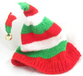 Knitting Patterns For Baby Elf Hats : Knitted Christmas Elf Hat - Christmas Crafts - craftbits.com