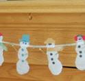 DIY Snowman Garland