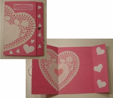 Paper Doily Valentine Card - Paper Crafts - craftbits.com