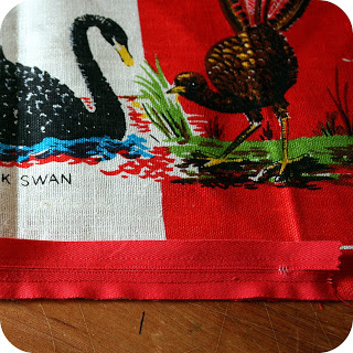 the craft revival tea towel to cushion tutorial 2