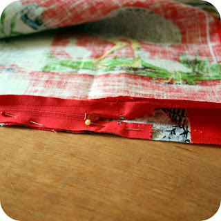 the craft revival tea towel to cushion tutorial 3