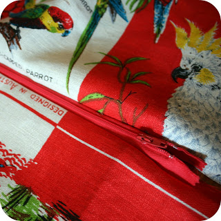 the craft revival tea towel to cushion tutorial 7