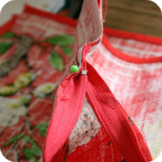 the craft revival tea towel to cushion tutorial 9