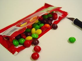 Open Skittle Bag