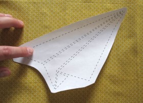 cut out airplane template - paper airplane throw pillow