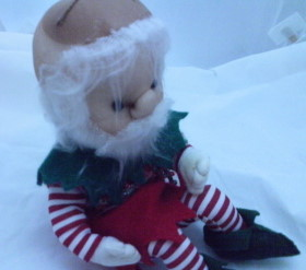 elf doll dressed