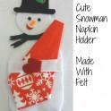Serviette Holder: Snowman Felt Pattern