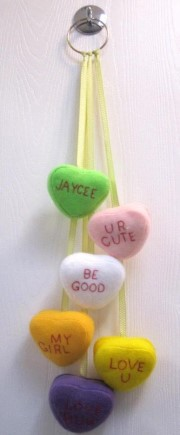 Conversation Hearts Hanging Up