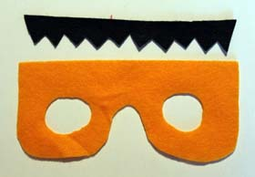 Cut Felt Monster Mask