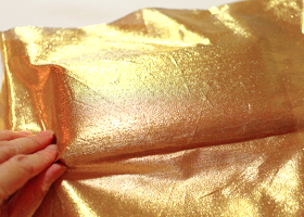 Add gold fabric