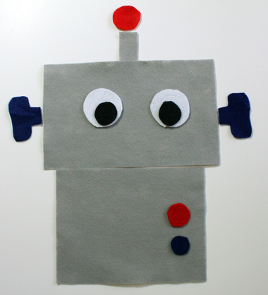 Robot Felt In Grey